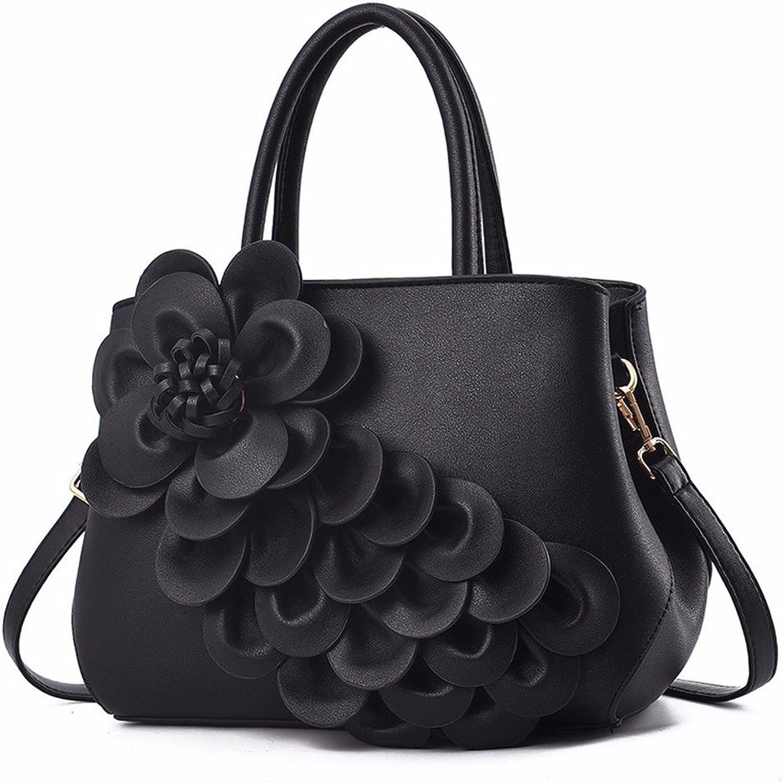 GQFGYYL Neuer großer Handtasche einheitlichen Schulter Schulter Schulter schräg Tasche,schwarz B07GKZTMX1  Modestamm 7c6650