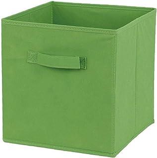 Tissu panier Bin Boîtes de rangement de rangement pliable cubes Organisateur avec poignées vert pour stockage