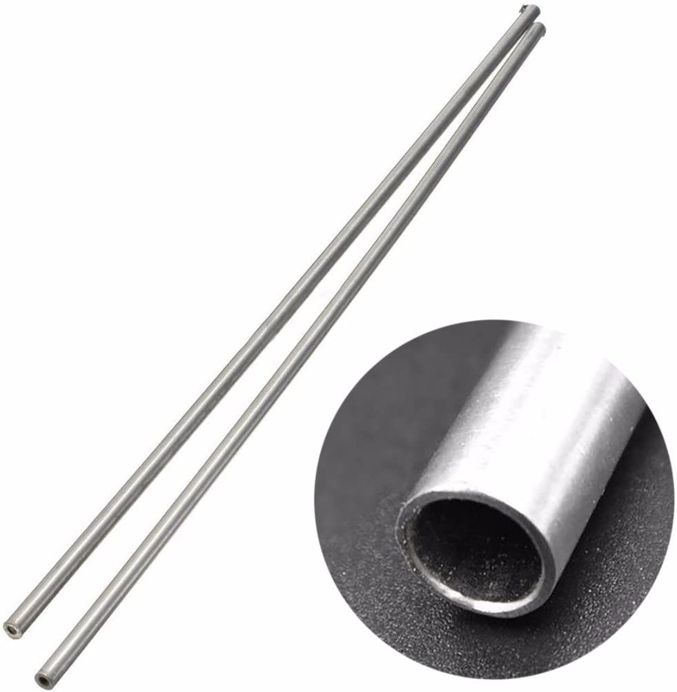5er Silber 304 Edelstahl Kapillarrohr 3mm OD 2mm ID Länge 250mm Rundrohre