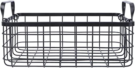 SWZJJ Storage Basket,Iron Metal Sundries Storage Basket Cosmetic Organizer Basket for Home Offices