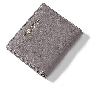 Cyanb Women Small Bifold Wallets Slim Zipper Pocket Card Holder Ladies Mini Short Leather Purse