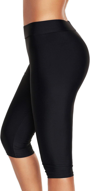 ninovino Women's Swimwear Capri Quick Dry Stretch Water Sports Leggings
