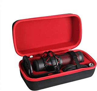 Adada Hard Travel Case for HyperX QuadCast - USB Condenser Gaming Microphone (Black+Red)