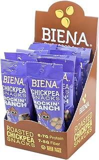 Biena Vegan Non-GMO Baked Chickpea Snacks, Rockin' Ranch, 10 Count