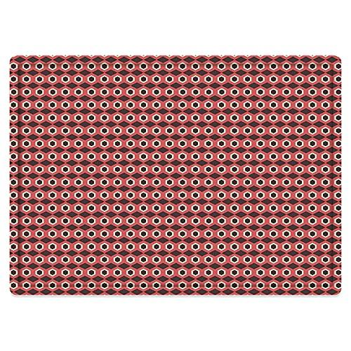 Alfombra de baño Antideslizante 50X80cm,Patrón de Mosaico de Formas geométricas y hexagonales con Puntos elípticos en el Interior sobre fAlfombrilla Lavable a máquina con absorción de Agua Blanda