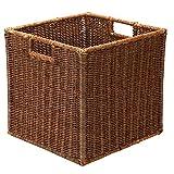 AKWAY Wicker wardrobe basket for storage, cloths, newspapers, photos or other memorabilia (12.5' W x...