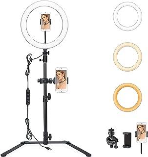 Godox LR120 LED Ringlicht Kit 12' Zweifarben Selfie Ringlicht Diammable CRI 90+ & TLCI 90+ mit Stativ Smartphone Stativständer für Make up, Live Aufnahme, Videoaufnahme