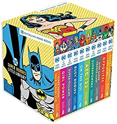 DC super heroes little library board book collection