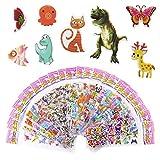 Meafeng Autocollants Stickers Animaux 3D pour Enfant 52 Feuilles Pack de Variétés Autocollants Plus de 1100 Comprenant des Animaux, Papillon, la Vie Océanique, Dinosaures