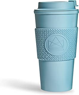 Neon Kactus - Double-Walled Coffee Cup, Reusable Coffee Cup with Resealable Lid, Food-Grade Silicone Seal, and Sleeve, Ins...