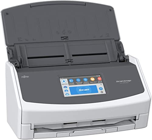 Fujitsu ScanSnap iX1500 Color Duplex Document Scanner with Touch Screen for Mac and PC (White Model, 2020 Release)
