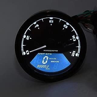 Motorcycle Speedometer LCD Digital Tachometer Speedometer Gear Indicator Odometer Motorcycle Motorbike Velocimetro Moto Black
