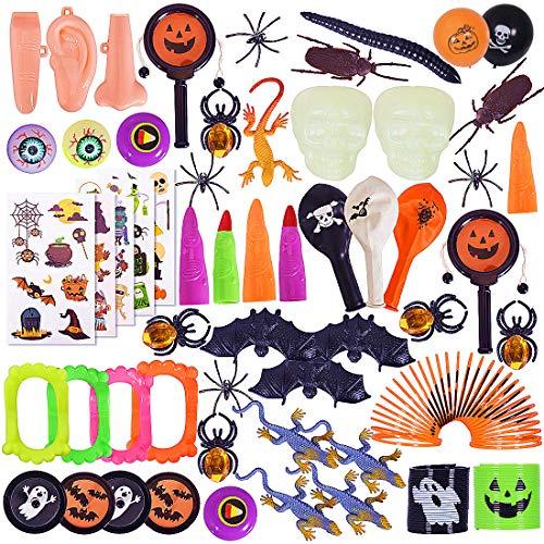 Max Fun 122Pcs Halloween Party Toys Assortment for Kids Halloween Party Favors Prizes Box Toy Assortment Classroom Trick Treating