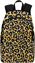 HUAPIN Leopard Fur Texture Casual Daypack Travel Bag College School Backpack for Mens and Women