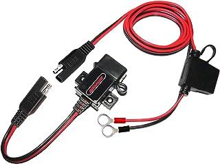 MOTOPOWER MP0609A Kit de cargador USB de motocicleta de 3.1Amp para teléfono, GPS o cámara deportiva
