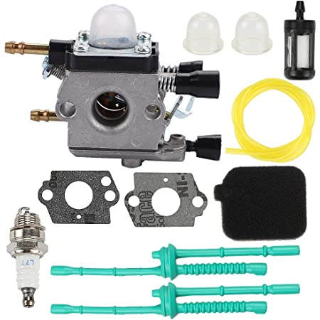 HIPA C1Q-S68G Carburetor for Stihl BG45 BG46 BG55 BG65 BG85 SH55 SH85 Leaf Blower C1Q-S68 4229 120 0606 Carb with Primer Bulb Spark Plug Fuel Filter Gasket