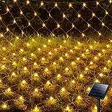 Hezbjiti 200 LEDs Guirnaldas Neta Luces Solar, 3m X 2m 8 Modos luz de Red con Energía Sol...