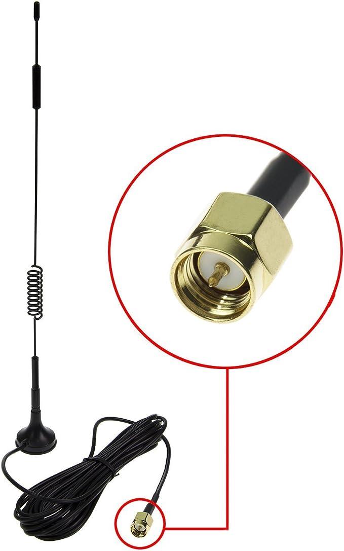 SMA 4G Antena, LTE Antenna Dual 12dBi Alto Ganancia Red Ethernet Al Aire Libre Antena Receptor Amplificador Booster para WiFi Router Banda Ancha Móvil ...