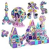 infinitoo Magnetische Bausteine 146Pcs Schloss Magnetic Bauklötze Baukasten Kinder | 3D Macaron Lernen & Entwicklung Bausteine Spielzeug | Perfekt für Zuhause, Schulen, Kindertagesstätten