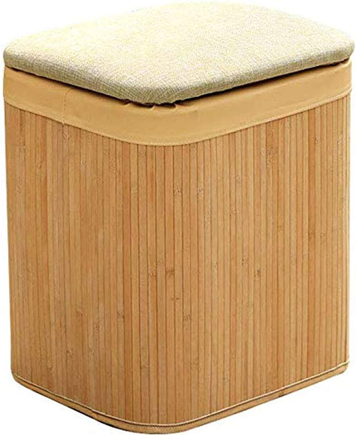Footstool, Multi-Function Storage Stool Storage Stool Solid Wood Home Osman Sofa Bench shoes Bench (Size   B)