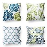 Phantoscope New Living Blue&Green Decorative Throw Pillow Case Cushion Cover 18'...