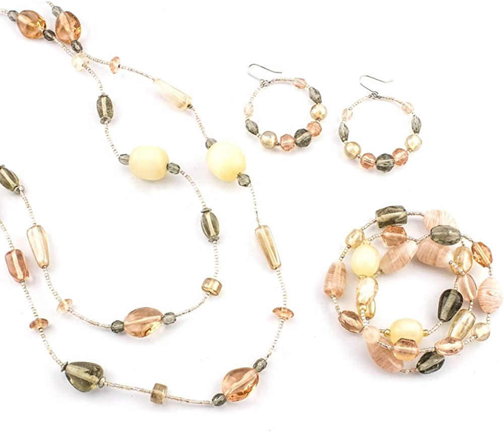 LookLove Womens Jewelry Blush Pink Strand Necklac Spring new work Set Baltimore Mall 48