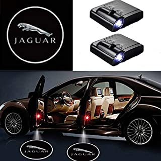 3D Wireless Magnetic Car Door Step LED Welcome Logo Shadow Ghost Light Laser Projector Lamp (Jaguar)