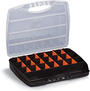 Storage Box Plastic Organizer   Containers with Clear Lids and Adjustable 22 Compartments for Organizing Small Parts or Hardware 12