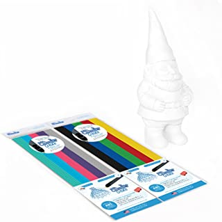 3Doodler Create Canvas Project Kit, Garden Gnome (x1 Gnome Canvas), with 2 Packs of Plastic Filaments