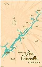 Lake Guntersville Alabama Vintage-Style Map Art Print Poster by Lakebound (30