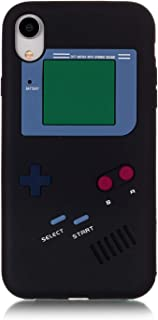 Apple iPhone XR Case,Newstore Retro 3D Game Boy Gameboy Style Soft Silicone Cover Case Apple iPhone XR 6.1 inch A Free Packing Newstore Trademark Gifts (Black)