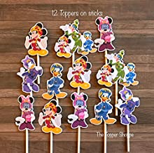 12 Cupcake Toppers MICKEY ROADSTER RACERS