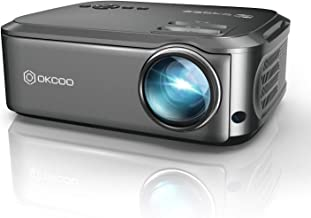 $218 » Projector, OKCOO Native 1080P Video Projector Full HD Outdoor Movie Projectors for Home Theater, Upgrade Business PowerPoi...