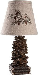 "AHS Lighting L1562-UP1 Pinecone Accent Lamp, 7"" x 7"" x 14"""