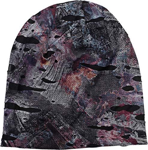 styleBREAKER muts in spetterstijl met vlekken en borden in een vernielde vintage-look, unisex 04024077