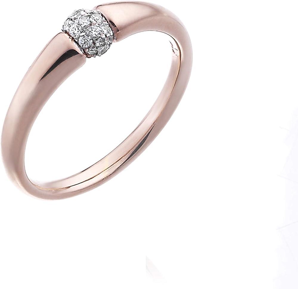 Chimento ,anello per donna,in oro 18 kt(3,80 gr) e diamanti 0,08 ct 1a14200b12140