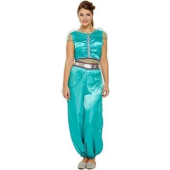 Mujer Jasmine Princesa Árabe Danza Vientre Disfraz 8-12: Amazon.es ...
