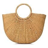 Woven Straw Handbag Summer Beach Tote Bag for Women