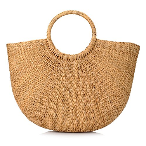 Woven Straw Bags Summer Beach Tote Bag for Women