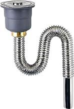Flexibele Pijp, Sink Stekkers, Gootsteen Buisleidingen, Kitchen Sink Drain Drain Pipe 0,6m / 0,8m / 1m / 1.3m, RVS Spoelba...