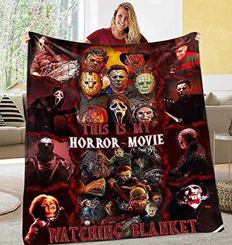 CAETNY Nomes Personalizados Personalizados Este é MEU cobertor de filme de Terror, Este é MEU cobertor de filme de Terror, Este é MEU cobertor de filme de Terror, Presente de Blanekt de Terror para