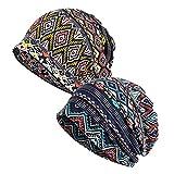 EEVASS Mujer Pañuelo Algodón Bandana Sombrero de Beanie Cabeza Transpirable Casquillo (#B, 2)