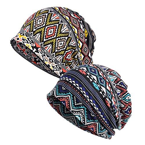EEVASS Berretto Elasticizzato da Donna Beanie Hat Headwear Bandane Multiuso (#B, 2)