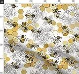 Tiere, Bienen, Honigbiene, Wabe, Gelb Stoffe - Individuell