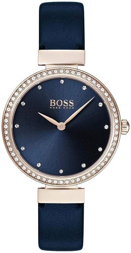 Hugo boss orologio analogico donna con cinturino in pelle 1502477