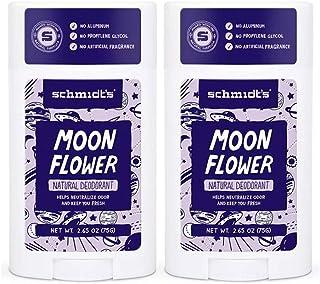 Schmidt's Moon Flower Natural Deodorant Stick 2.65 Ounce (2 Pack)