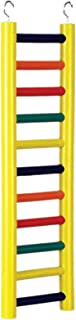 Prevue Pet Products BPV01138 Carpenter Creations Hardwood Bird Ladder with 11 Rungs,  18-Inch,  Colors Vary