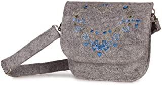 Spieth & Wensky Trachten Trachtentasche - NUTRIA - grau/blau, grau/gelb, grau/lila