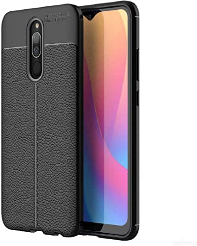 Casotec Auto Focus Soft Silicon TPU Back Case Cover for Mi Redmi 8A Dual Black