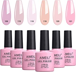 AIMEILI Kit de Esmalte Semipermanente Para Uñas Esmaltes de Uñas Esmaltes en Gel Uñas UV LED Pintauñas Permanente Set de Regalo Soak Off Manicura Colores De La Mezcla Set 6 X 10ml - Set 31